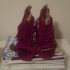 Steve Madden Shoes - Steve Madden Fuchsia Tassle Heels